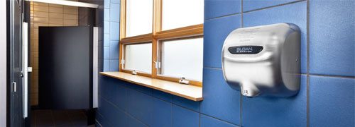 Xlerator XL-SB hand dryer in restrooms